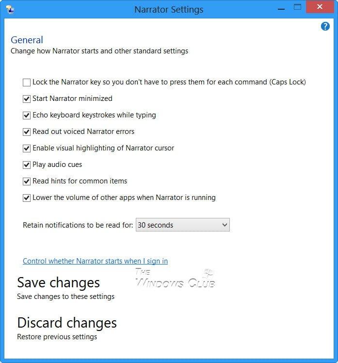 Cómo usar el Narrador en Windows 10/8/7 2