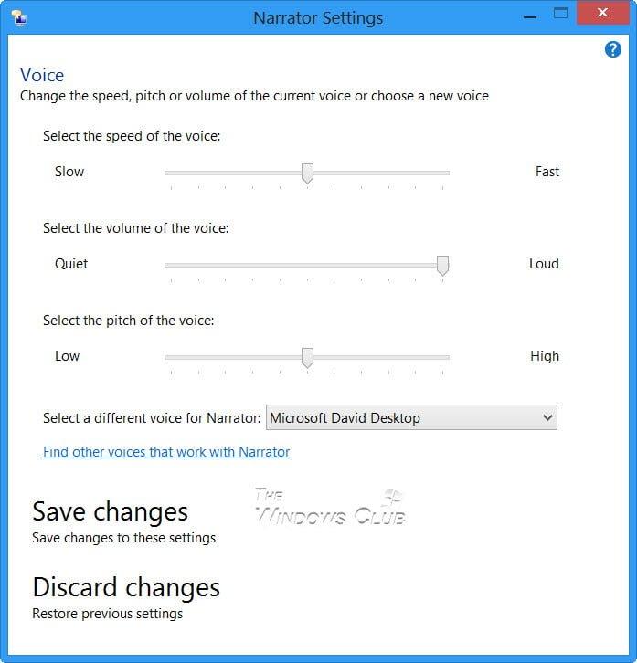 Cómo usar el Narrador en Windows 10/8/7 4
