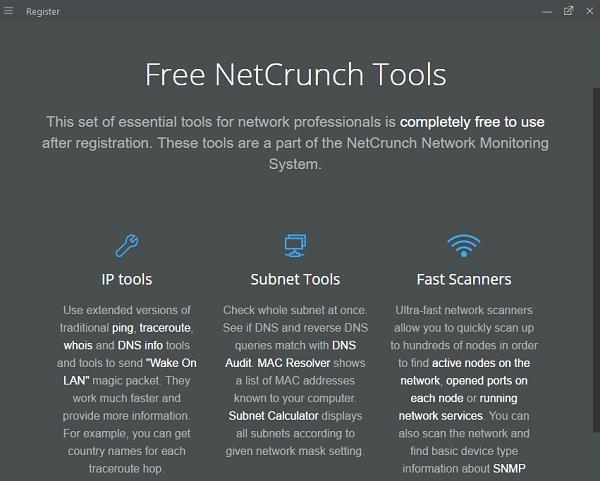 Herramientas NetCrunch: Kit de herramientas gratuito para la resolución de problemas de red 1