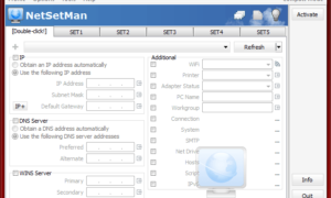 NetSetMan: Administrador de configuración de red para Windows 10
