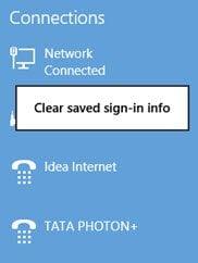 Menús contextuales de red en Windows 8.1