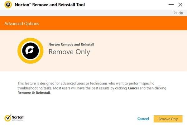 Quitar y volver a instalar los productos Norton con la herramienta Norton Quitar y volver a instalar 2