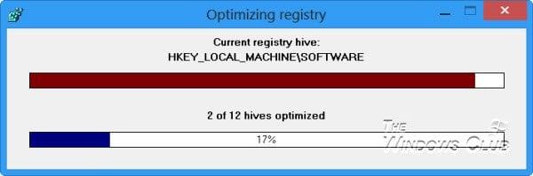 Desfragmentador de Registro gratuito para desfragmentar el Registro de Windows