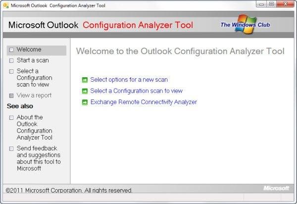 Herramienta de análisis de configuración de Outlook: Analizar los problemas del perfil de Outlook 1
