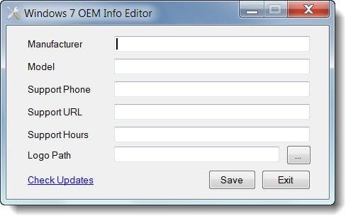 Cómo editar o cambiar la información del sistema en Windows 10/8/7