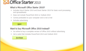 Cómo ejecutar OfficeStarter2010 en Windows8