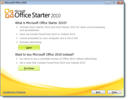Cómo ejecutar OfficeStarter2010 en Windows8 1