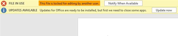 El archivo de OneDrive está bloqueado: El archivo está bloqueado para que otro usuario lo edite