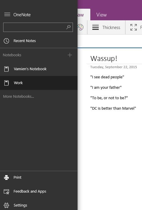 Aspectos básicos del uso de la aplicación OneNote en Windows 10