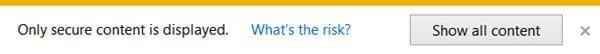 Desactivar el contenido activo en Internet Explorer en Windows