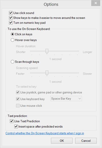 Teclado en pantalla de Windows: Opciones y ajustes 5