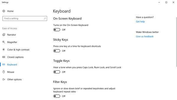 Teclado en pantalla de Windows: Opciones y ajustes 2