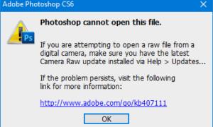 Cómo abrir una imagen RAW en Adobe Photoshop CS6 o CC