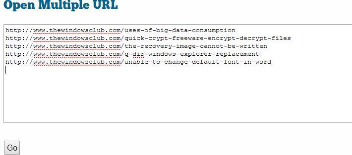 Cómo abrir múltiples URLs o enlaces a la vez con un solo clic
