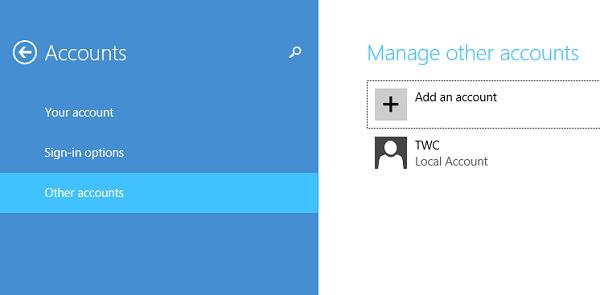 Cómo crear una nueva cuenta de usuario en Windows 10/8.1 3