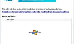 La herramienta de limpieza de archivos adjuntos de Outlook limpia las sobras y los rastros de los archivos adjuntos de correo electrónico