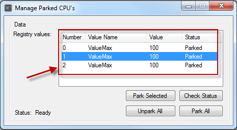 Habilitar o deshabilitar CPU Core Parking en Windows 10/8/7
