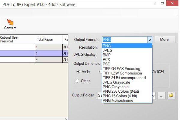 PDF To JPG Expert : Convertir archivos PDF en imágenes JPG