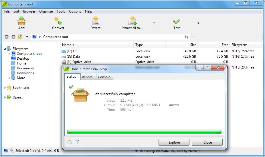 Mejor software gratuito de compresión de archivos para Windows 2