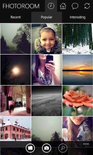 Fhotoroom: Una aplicación de edición y uso compartido de fotos para Windows Phone 2