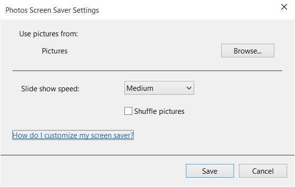 Cómo personalizar el Salvapantallas en Windows 10 6