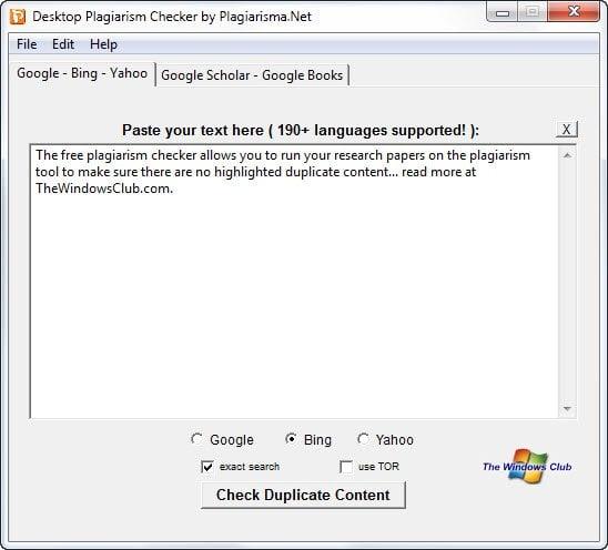 Comprobador de Plagio de Escritorio: Detectar o comprobar contenido duplicado en la web