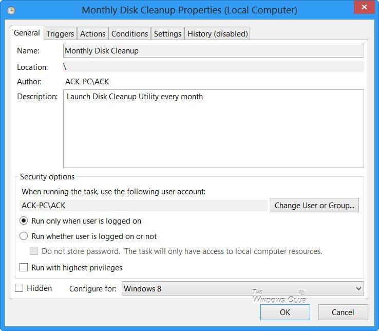 Automatice el funcionamiento de la herramienta mejorada de Liberador de espacio en disco en Windows 10/8/7 10