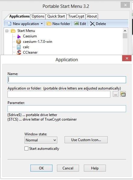 Menú PSM: Menú de inicio portátil para Windows 10/8/7