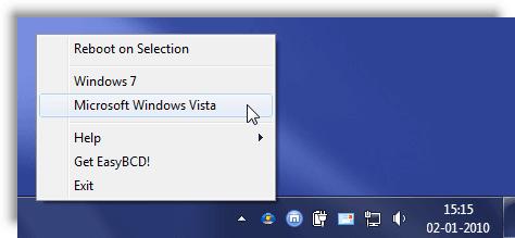 Cómo reiniciar directamente en otro sistema operativo de su elección