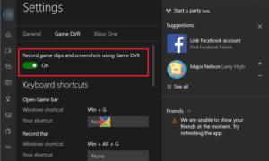 Cómo habilitar o deshabilitar Game DVR o la Barra de juegos en Windows 10