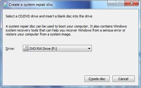 Cómo crear un disco de reparación del sistema en Windows 10