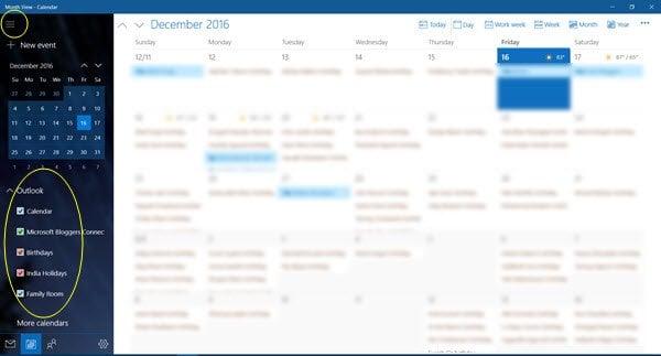 Cómo quitar Contactos de Facebook y Cumpleaños del Calendario en Windows 10 1