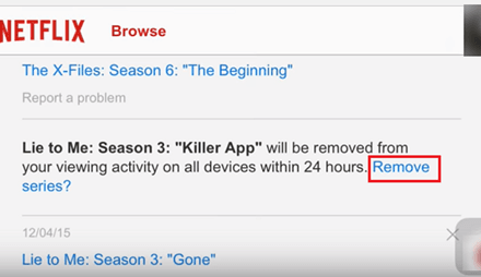 Cómo borrar el historial visto recientemente de la cuenta de Netflix