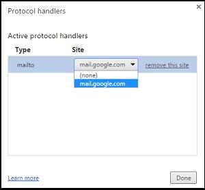 Habilitar o deshabilitar los Enlaces Especiales o las peticiones del Gestor del Sitio en Chrome 4