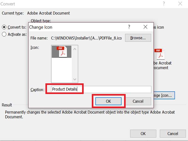 Cómo insertar un archivo PDF en una hoja de Excel 7