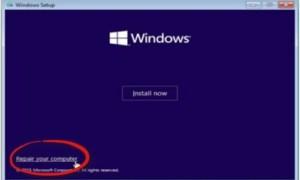 Para usar Restaurar sistema, debe especificar qué instalación de Windows desea restaurar