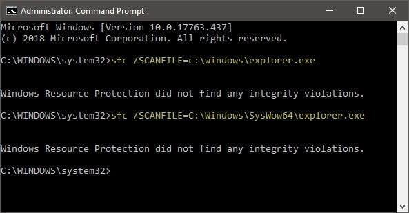 Cómo escanear y reparar un solo archivo usando System File Checker
