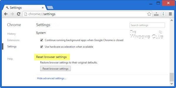 Corregir el error NETWORK_FAILED en el navegador Chrome en el PC con Windows 4