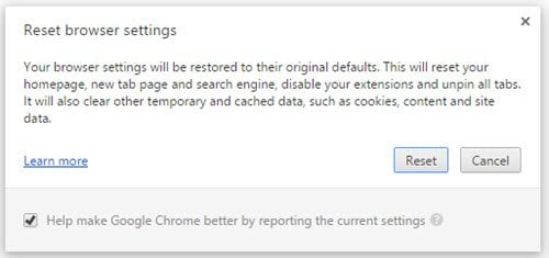 Corregido ERR_CONNECTION_ABORTED error en el navegador Chrome