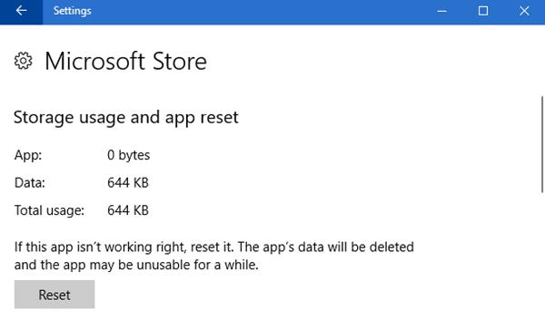 Cómo restablecer las aplicaciones del Almacén de Windows en Windows 10 a través de Configuración