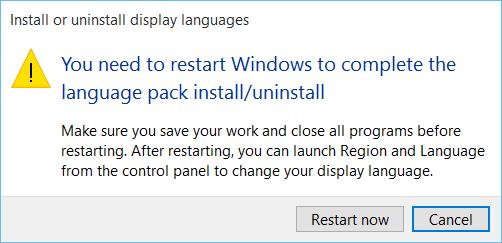 Cómo instalar y desinstalar idiomas en Windows 10 9