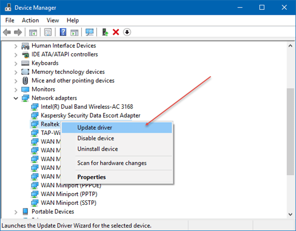 Corregir el error rtwlane.sys Blue Screen en Windows 10