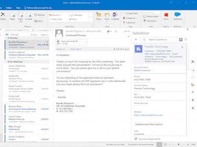 Cómo instalar un complemento de Salesforce Lightning para Outlook