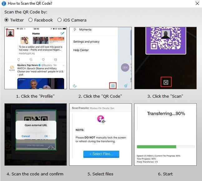 ScanTransfer le permite escanear y compartir sus fotos y vídeos de forma inalámbrica 4