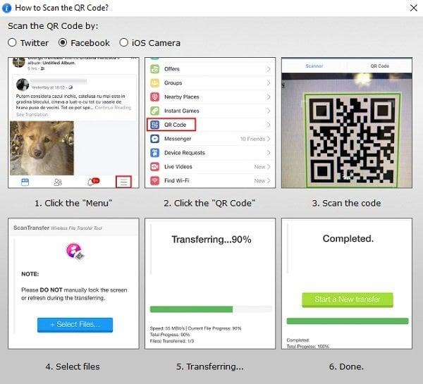 ScanTransfer le permite escanear y compartir sus fotos y vídeos de forma inalámbrica 3
