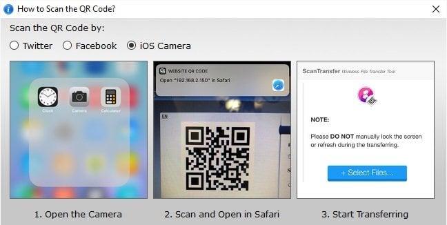 ScanTransfer le permite escanear y compartir sus fotos y vídeos de forma inalámbrica