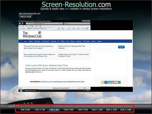 Sitio web de prueba en diferentes tamaños y resoluciones de pantalla 3