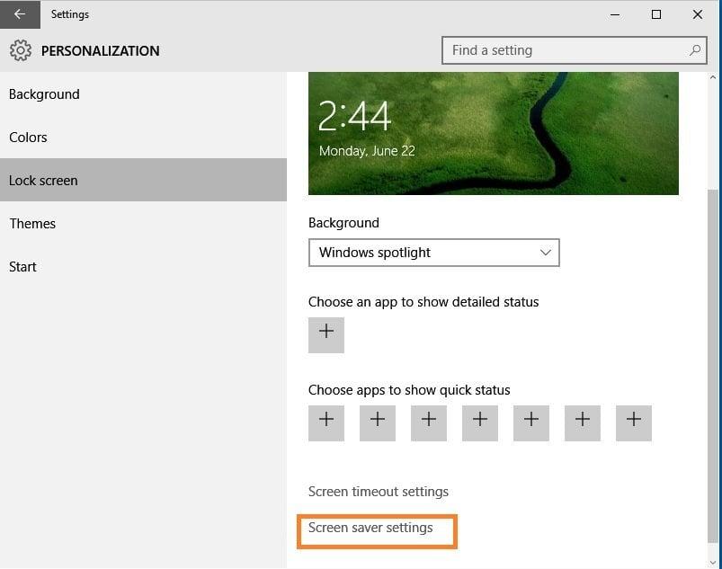 Cómo personalizar el Salvapantallas en Windows 10 3