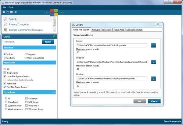 Lanzamiento de Microsoft Script Explorer para Windows PowerShell