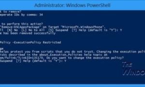 Solucione el problema de bloqueo de las aplicaciones de Windows Store mediante la ejecución de la desinstalación limpia con PowerShell.